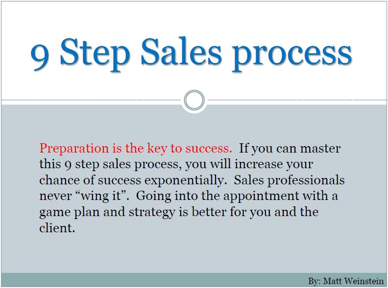 9 Step Sales process