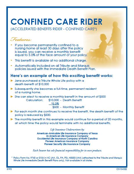 Confined-Care-rider-brochure